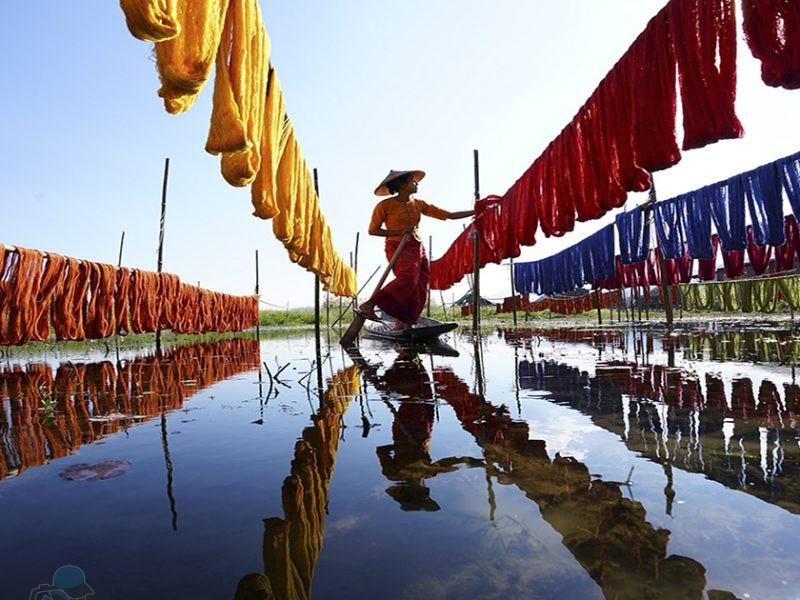 phototrip - Phơi vải Nyaung Shwe - Myanmar